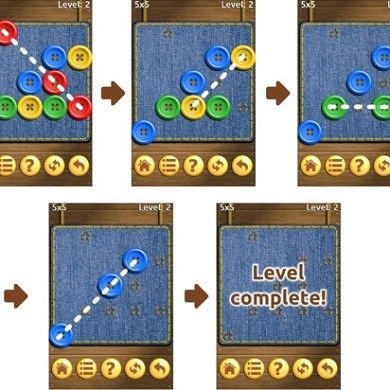 Remove Buttons with the Puzzle Game Buttons and Scissors