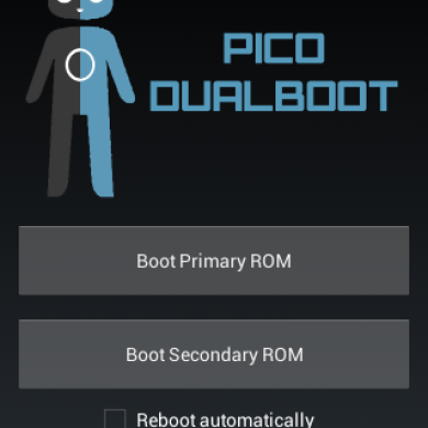 Dual Boot On the HTC Pico