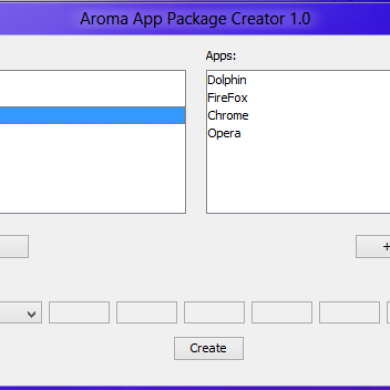 AROMA App Package Creator Given Substantial Update