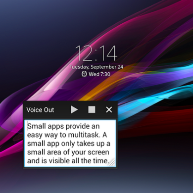 Voice Out Small App for Xperia Device Text Messages