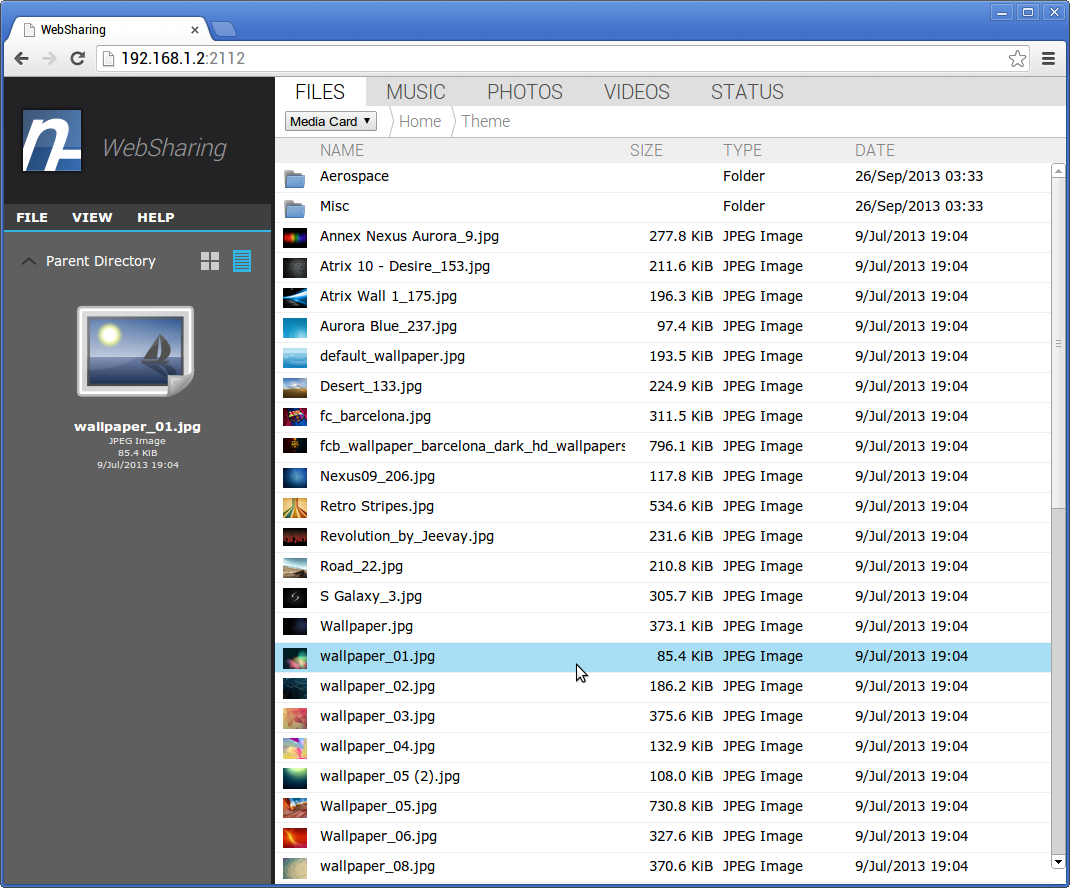 Easy File Transfer Between PC and Device with Websharing 2 0