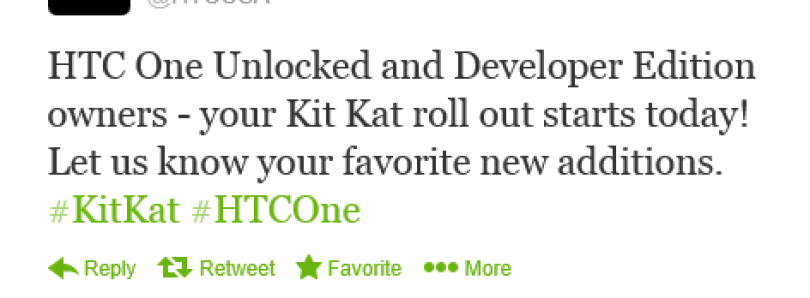 HTC One Developer and Unlocked Models Now Receiving Android 4.4 KitKat!