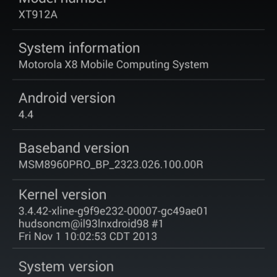 Leaked Android 4.4 KitKat Build Appears for T-Mobile Moto X