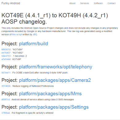 Source Code Commits in Android 4.4.2 KOT49H Reveal Flash SMS Attack Fix and App Ops Removal