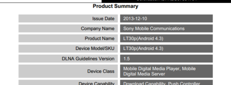 Official Android 4 3 for Xperia SP, T, TX, and V Certified by DLNA