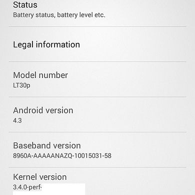 Leaked Android 4.3 Now Available for the Sony Xperia SP and T