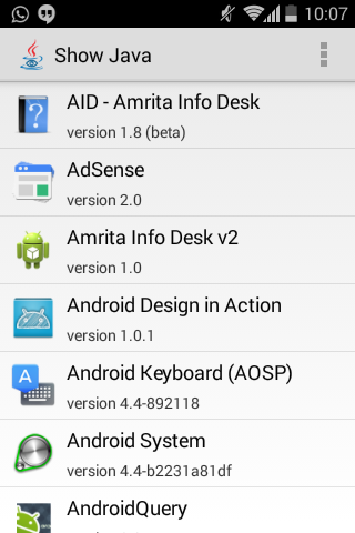 Browse Java Code of Your Favorite Applications Directly from Your Android Device