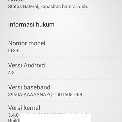 Android 4.3 Leak Now Available for the Sony Xperia TX LT29i