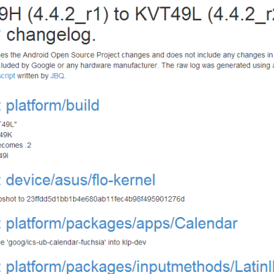 Android 4.4.2_r2 (KVT49L) Rolling Out to the Nexus 7 (2013) with LTE, Factory Images Updated, and Here's What's New!