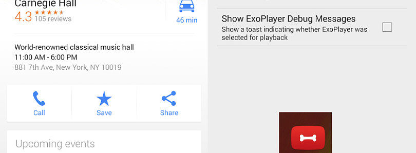 APK] Google Maps 7 7 Brings Event Data to Places, YouTube Gets