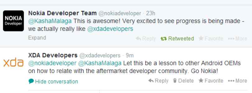 Nokia Shows Other OEMs How to Deal with the Development Community!