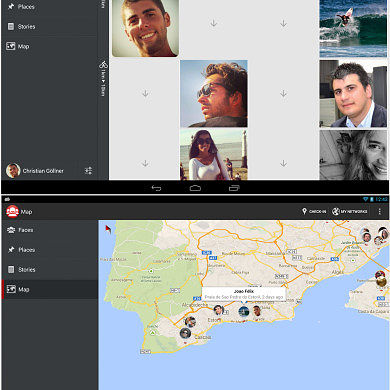 Turn Your Social Networks into Geosocial Networks with FacesIn