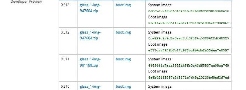 Google Glass XE16 Update Factory Image and Rooted Boot Image Now Available