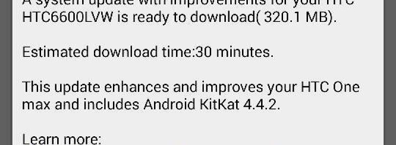 [OTA Captured] Android 4.4.2 KitKat Arrives on the Verizon HTC One Max