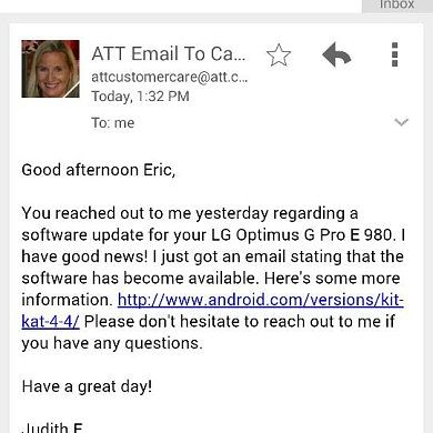 AT&T LG Optimus G Pro to Receive Official KitKat Starting Today