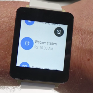 Preproduction LG Smartwatch Gives Us an Early Glimpse at Android Wear
