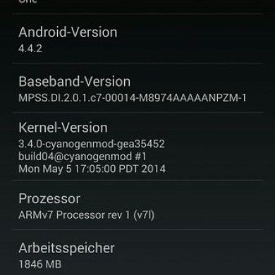 OnePlus One ROM (CyanogenMod 11S) on the Oppo Find 7a