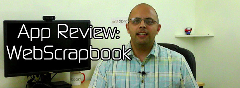 Android App Review: Easy Screen Shot Sharing with WebScrapbook – XDA Developer TV