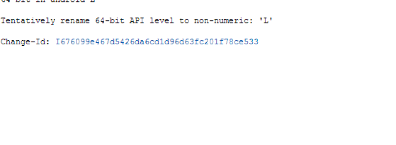 AOSP Commits Reveal Change to API Level Naming Convention
