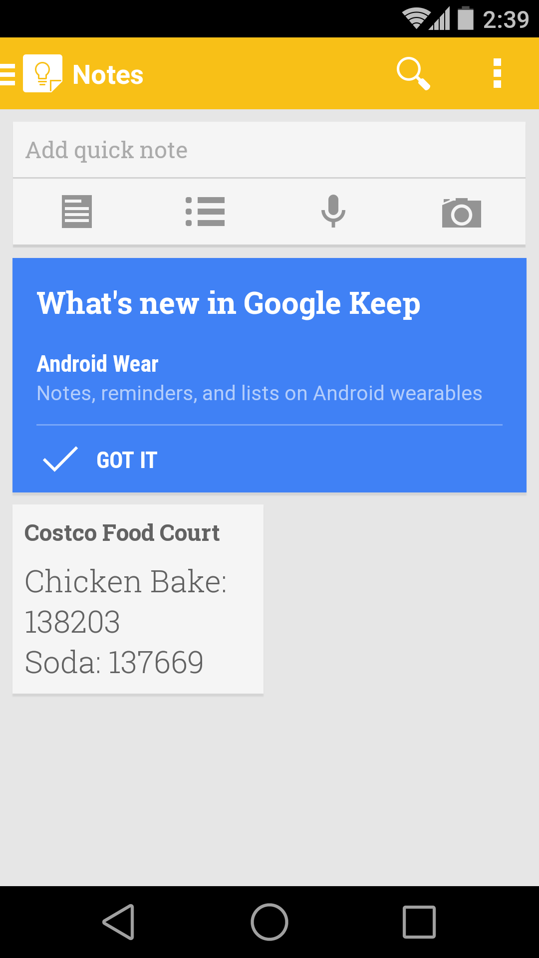 APK] Google Keep 2 3 Gets Android Wear Support, YouTube and Play