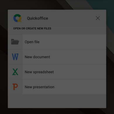 Google to Finally Do Away with QuickOffice in Favor of Docs, Sheets, and Slides