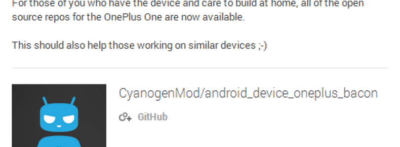 Cyanogen Inc Releases Full Device Tree for the OnePlus One!