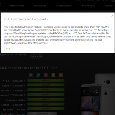 """HTC Commits to Delivering Android """"L"""" to M8 and M7 within 90 Days of Release"""