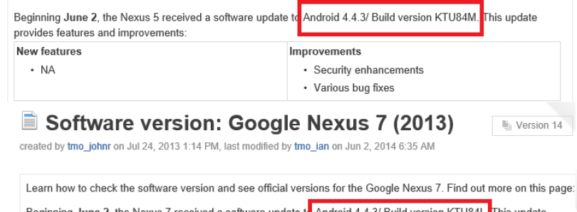 Android 4.4.3 to Begin Rolling Out to Nexus 4, 5, and 7 (2013), According to T-Mobile [Update: They're Here!]