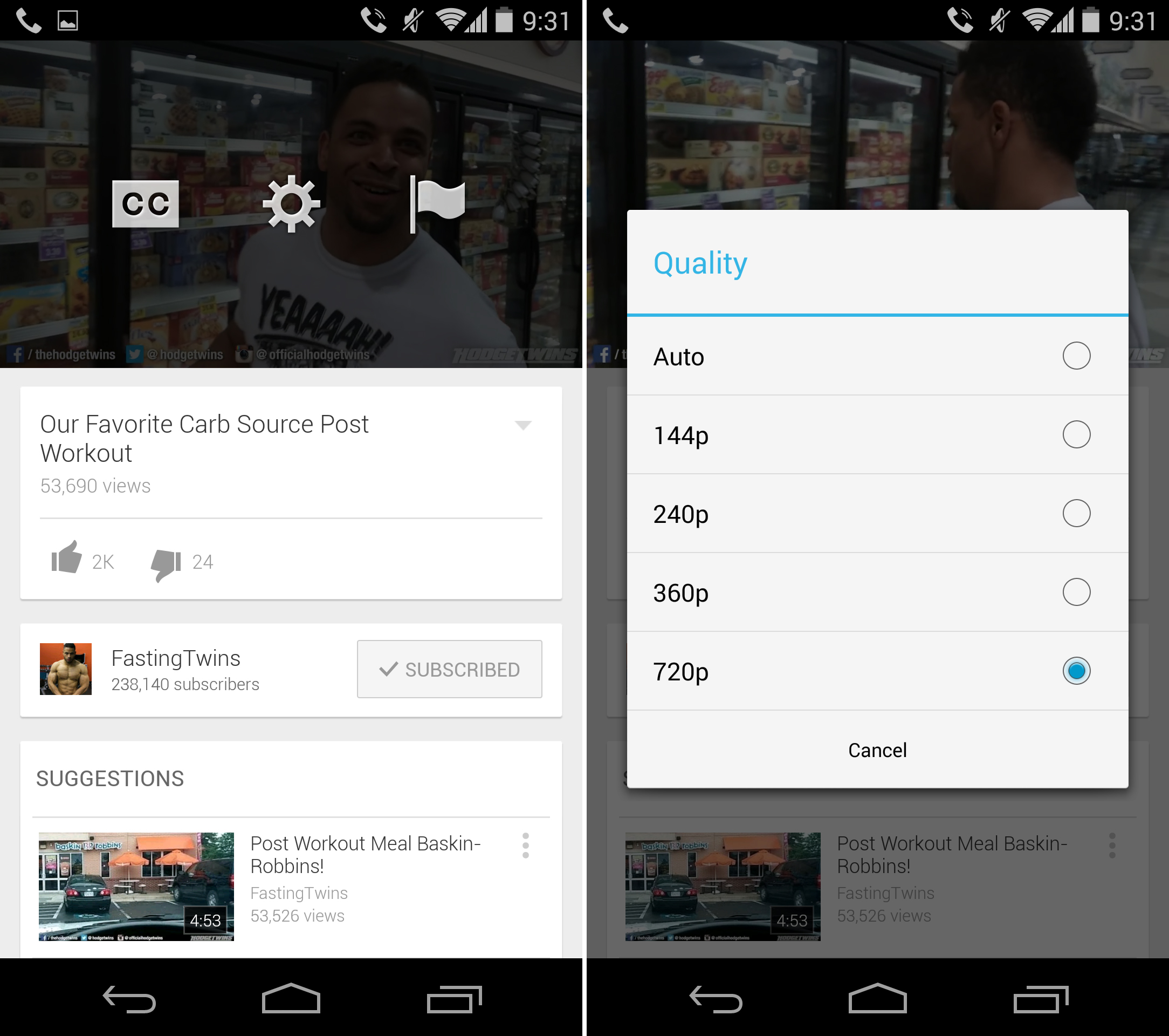 APK] YouTube 5 7 Finally Lets You Pick Streaming Resolution