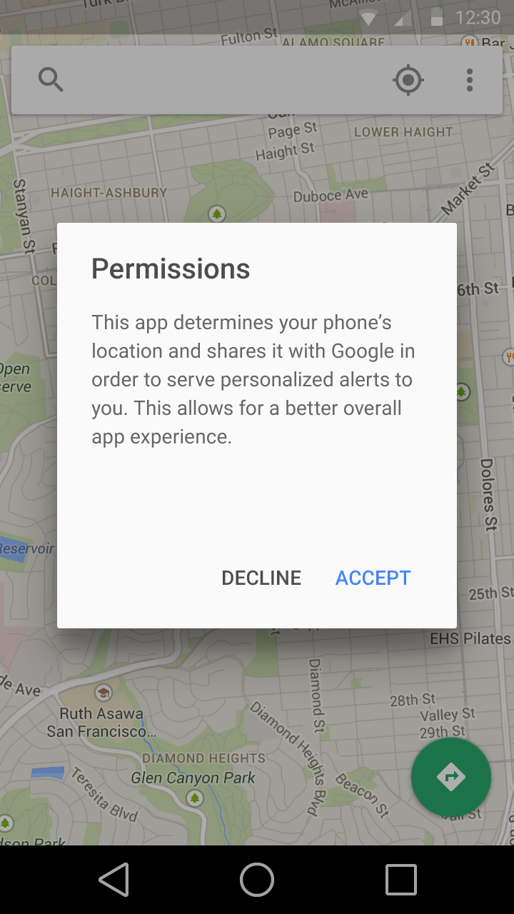 Android L looks set to add new at-use permissions prompts