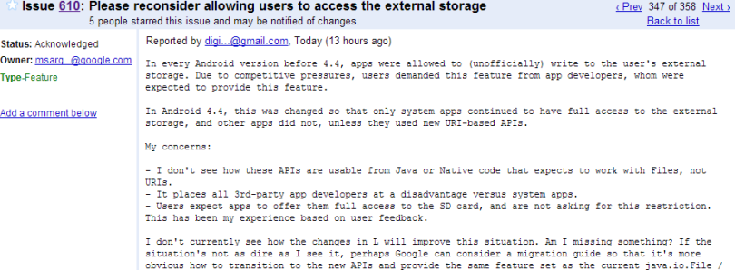 Google to Consider Changing SD Card Access Rules in Final Android L Release
