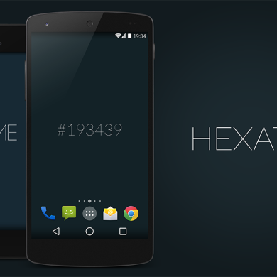Give Your Screen Some Color with HexaTime Live Wallpaper