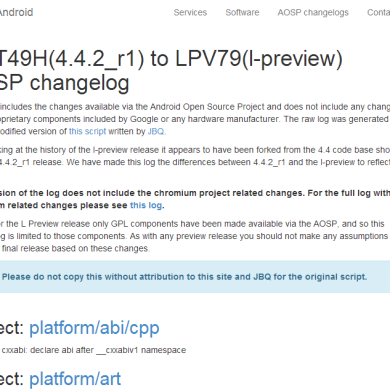 Browse the New AOSP Code Commits in Android L Developer Preview