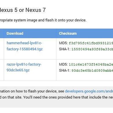 Updated Android L Developer Preview Images for the Nexus 5 and 7