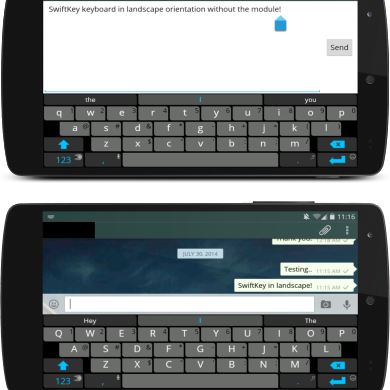 Improve Landscape Typing by Disabling the Full Screen Keyboard
