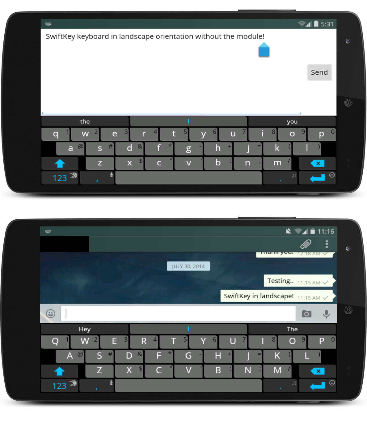 Disable the Annoying Full Screen Landscape Keyboard