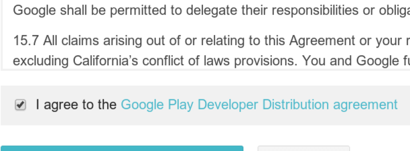 Google Play Developer Distribution Agreement Due Tomorrow