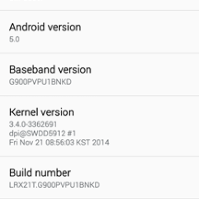 Lollipop Leak Available for the Sprint Galaxy S5