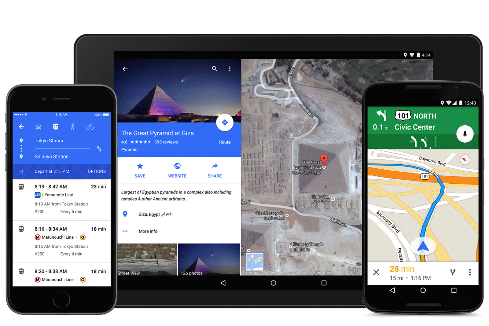 Google Maps 9.0.0 Brings Material Design Goodness on google maps screenshot, google maps update, google maps path,