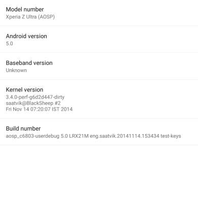 Android Lollipop Lands for the Sony Xperia Z Ultra