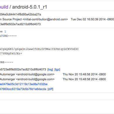 Android 5.0.1_r1 Sources and Factory Images