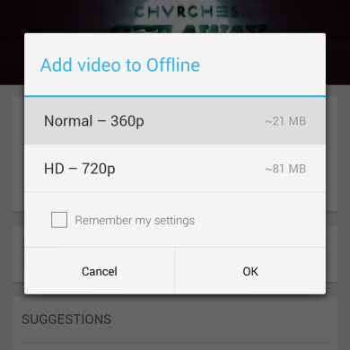 Youtube Now Supports Offline Playback in India