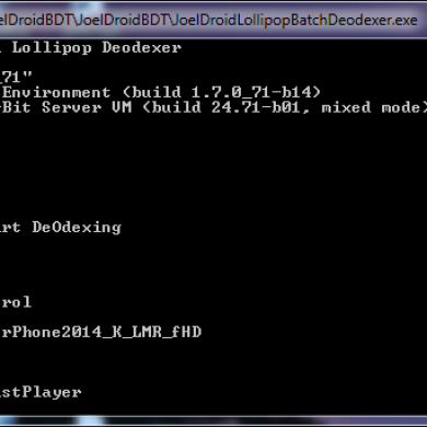 Speed Up Deodexing with JoelDroid Batch Deodexer