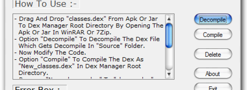 Easily Edit Classes dex with Dex Manager