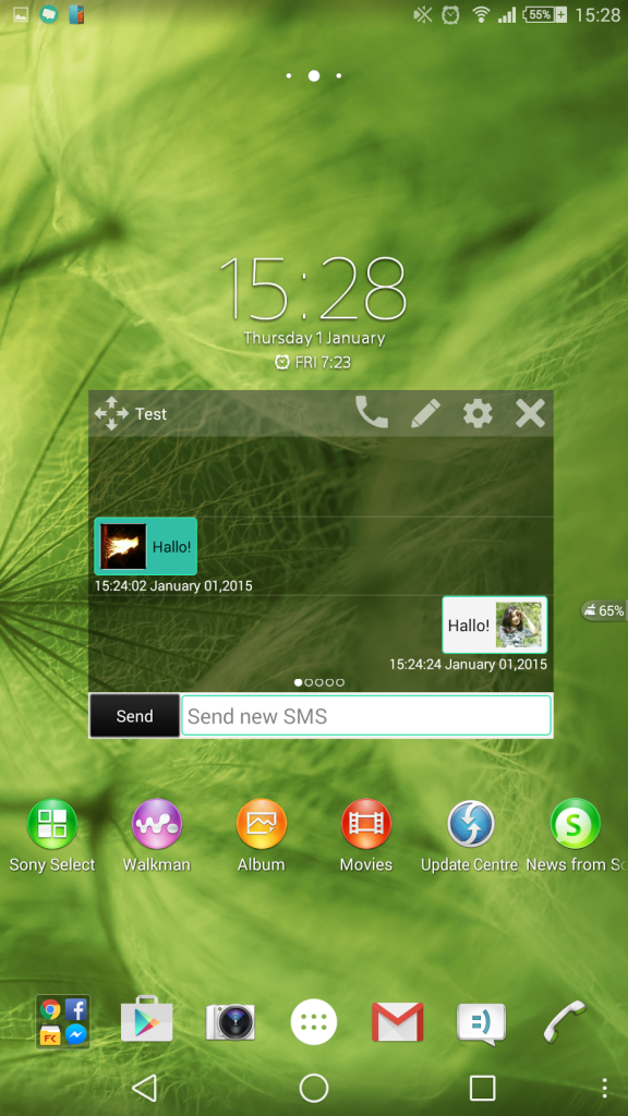 Enjoy Floating Texting with SMS Small App
