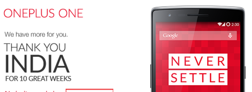 OnePlus One to Hold Open, Invite-less Sale on Amazon India