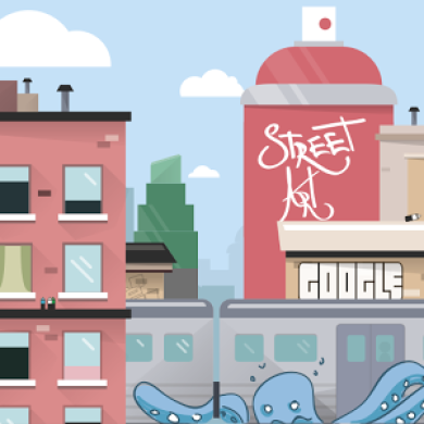 Google Publishes its First Watchface Featuring Street Art