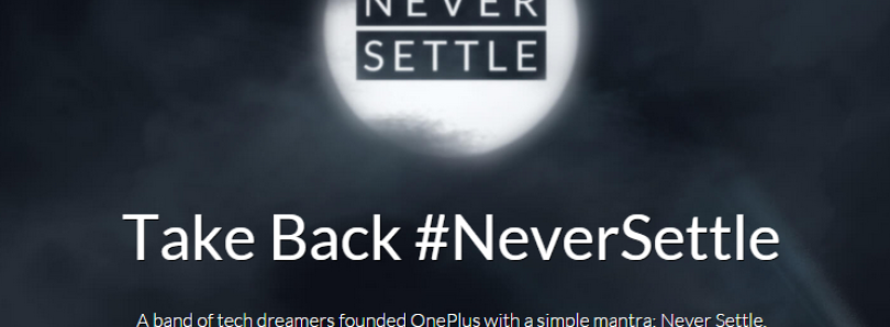 OnePlus Plans To Take Back #NeverSettle From Verizon