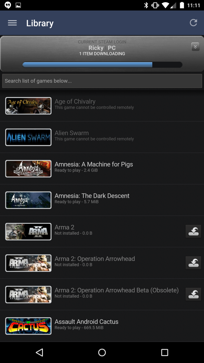 Updated Steam App Brings Some Material Design