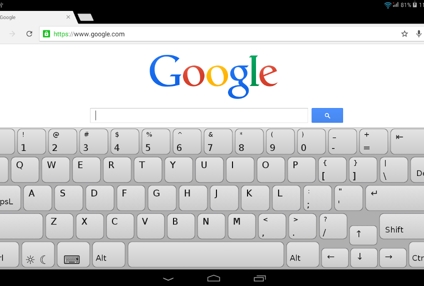 Clavis Keyboard, a PC-like Keyboard for Your Tablet